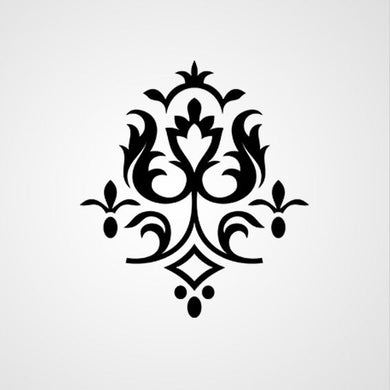 BAROQUE ORNAMENT Big & Small Sizes Colour Wall Sticker Shabby Chic Style 'B27'