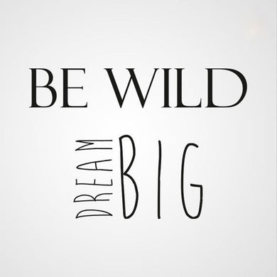 ,,BE WILD DREAM BIG'' QUOTE Sizes Reusable Stencil Modern Style 'Q34'