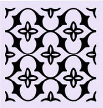 SQUARE BAROQUE PATTERN Big & Small Sizes Colour Wall Sticker Orient Ornamental Style 'B14'