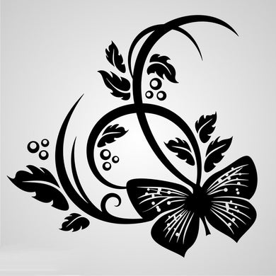 ARTISTIC FLORAL BUTTERFLY Sizes Reusable Stencil Shabby Chic Romantic Style 'CH45'