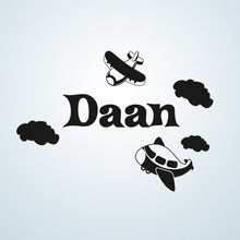 CUSTOM BOY'S NAME Big Sizes Colour Wall Sticker Modern Kids room Bedroom 'DAAN'