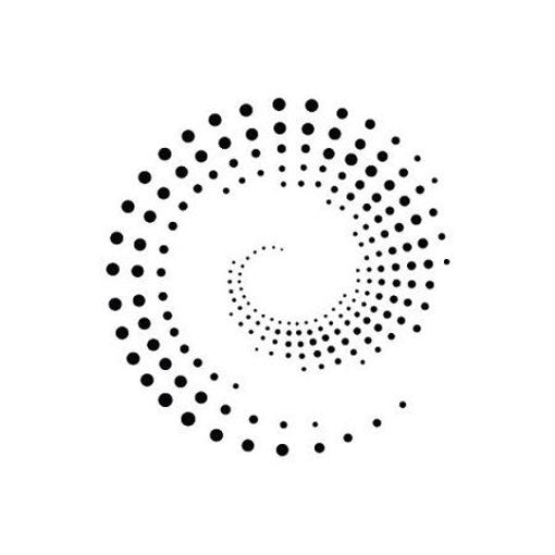 CIRCLE MODERN DOTS OPTICAL ILLUSION Sizes Reusable Stencil Modern Style 'Dots7'