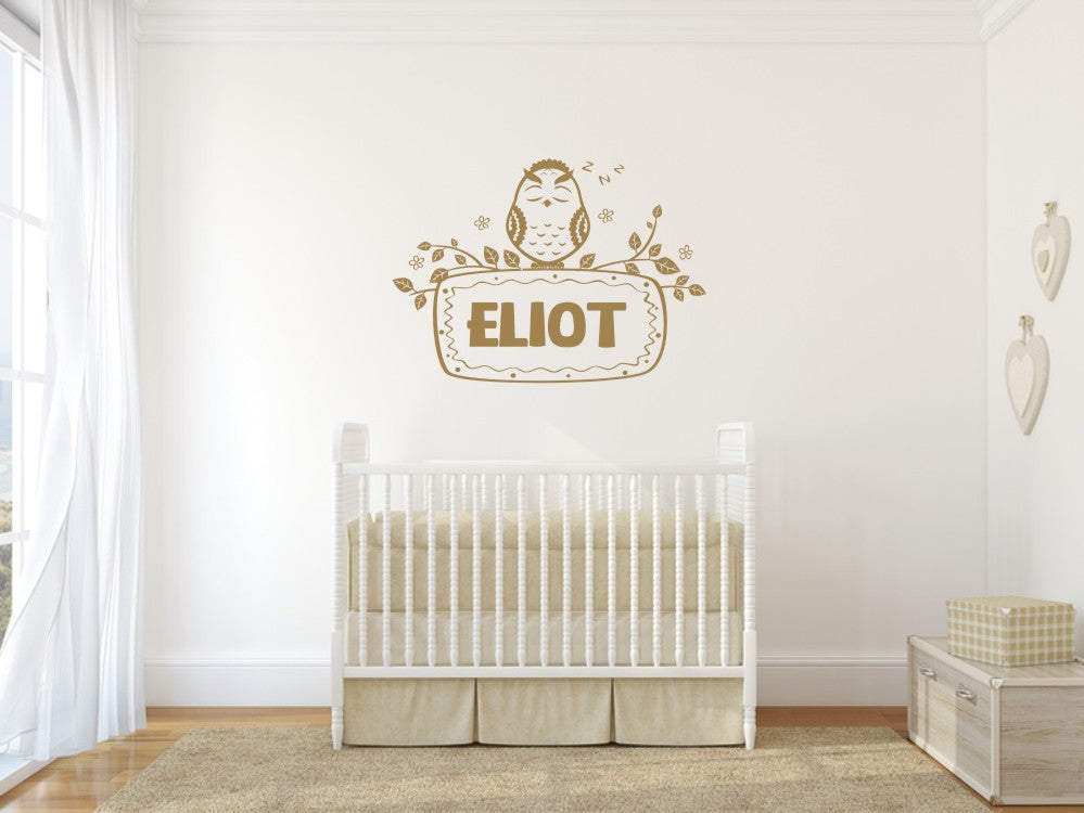 CUSTOM BOY'S NAME Big Sizes Colour Wall Sticker Modern Kids room Bedroom 'ELIOT'