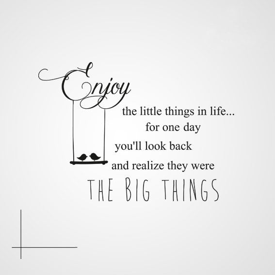 ,,ENJOY THE LITTLE THINGS IN LIFE...'' QUOTE Sizes Reusable Stencil Modern Style 'Q2'