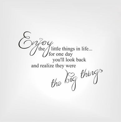 ,,ENJOY THE LITTLE THINGS IN LIFE...'' QUOTE Sizes Reusable Stencil Modern Style 'Q36'