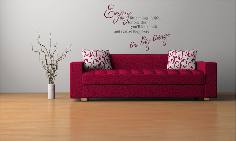 ENJOY THE LITTLE THINGS IN LIFE..\' QUOTE Big & Small Sizes Colour ...