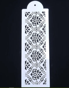 Ornament Border Baroque Size A4 Reusable Stencil Shabby Chic Decor Craft/ B23