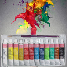 Set of 12 Colours 6ML Professional Acrylic Paints  - Brightly Coloured Art Supplies
