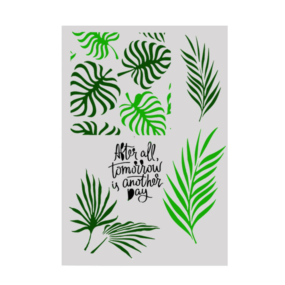 Monstera Plant Leaves Size A4 Reusable Stencil Shabby Chic Decor / Flora42