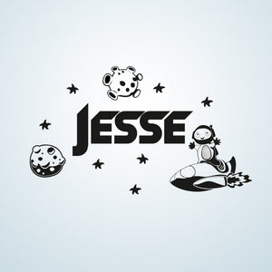 CUSTOM BOY'S NAME Big Sizes Colour Wall Sticker Modern Kids room Bedroom 'JESSE'