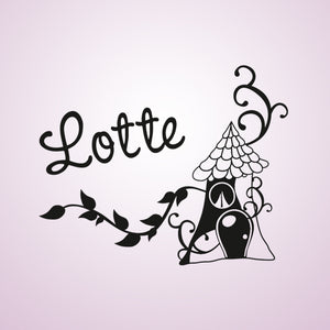 CUSTOM GIRL'S NAME Big Sizes Colour Wall Sticker Modern Kids room Bedroom 'LOTTE'