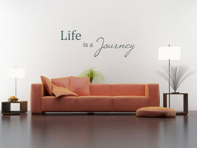 ,,LIFE IS YOUR JOURNEY'' QUOTE Big & Small Sizes Colour Wall Sticker Modern 'Q56'