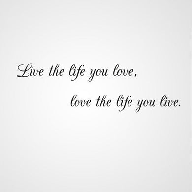 ,,LIVE THE LIFE YOU LOVE ...'' QUOTE Sizes Reusable Stencil Modern Style 'Q54'