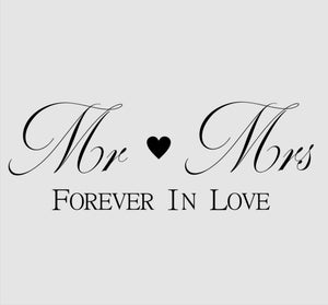 'MR & MS FOREVER IN LOVE' QUOTE Sizes Reusable Stencil Modern Style 'N93'