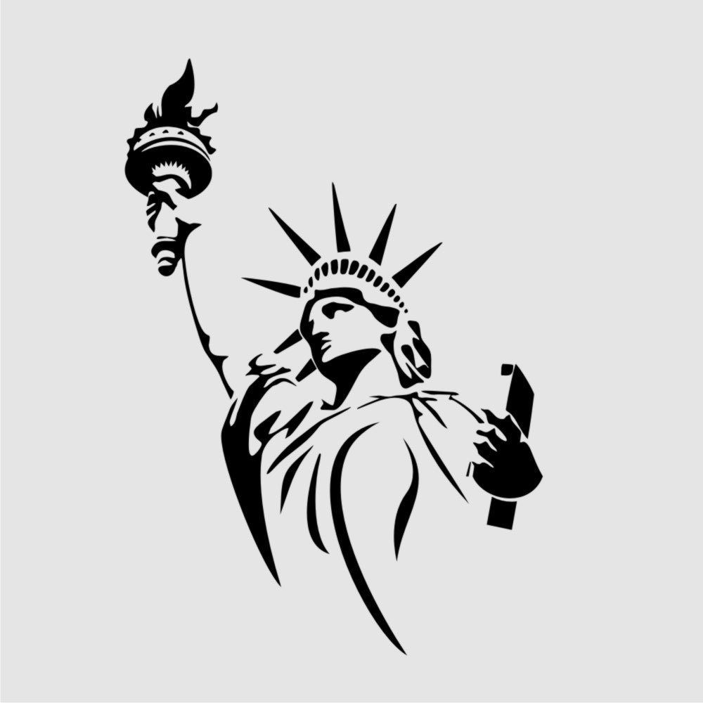 STATUE OF LIBERTY USA Sizes Reusable Stencil Travel Modern Style 'P19'