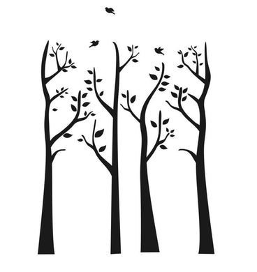 TREE BRANCHES WITH LEAVES Big & Small Sizes Colour Wall Sticker Shabby Chic Romantic Style 'Tree31'