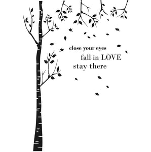"Tree Quote ""Close your eyes"" Big & Small Sizes Colour Wall Sticker Shabby Chic Romantic Style 'Tree33'"