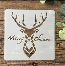 CHRISTMAS Reindeer Reusable Stencil Various Sizes  Xmas Card Decoration / SNOW29