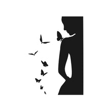 WOMEN WITH BUTTERFLIES Sizes Reusable Stencil Animal Romantic Modern Style 'J43'