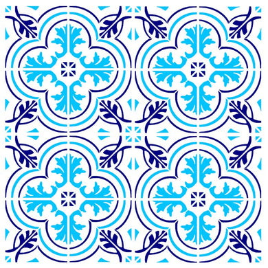 MOROCCAN TILE ROUND PATTERN Sizes Reusable Stencil Modern Exotic Oriental Travel 'Morocco1'