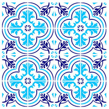 MOROCCAN TILE BIG PATTERN ROUND MEDALLION Big & Small Sizes Colour Wall Sticker Modern 'Marocco1'
