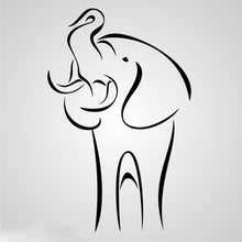 LUCKY ELEPHANT SKETCH Big & Small Sizes Colour Wall Sticker Animal 'Animal65'