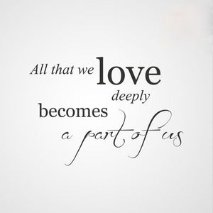 ,,ALL THAT WE LOVE ...'' QUOTE Sizes Reusable Stencil Modern Style 'Q50'
