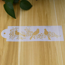Set of Birds Ornament Border Size A4 Reusable Stencil Shabby Chic Decor Craft/ B24