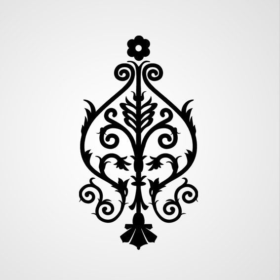 BAROQUE ORNAMENT Sizes Reusable Stencil Shabby Chic Romantic Style 'B25'