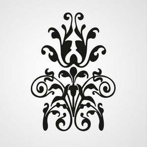 BAROQUE ORNAMENT Big & Small Sizes Colour Wall Sticker Shabby Chic Style 'B21'
