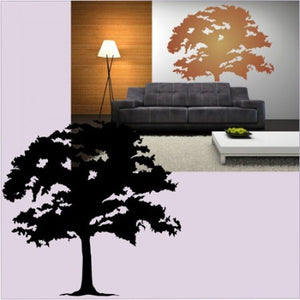 SINGLE TREE  Big & Small Sizes Colour Wall Sticker Modern Floral Shabby Chic Style 'Tree27'