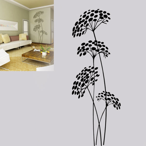 FENNEL FLOWERS Big & Small Sizes Colour Wall Sticker Floral Romantic Shabby Chic Style 'Flora1'