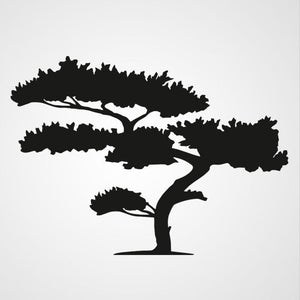 SHORT BONSAI TREE Big & Small Sizes Colour Wall Sticker Modern Floral Shabby Chic Style 'Tree90'