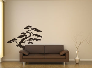 SHORT BONSAI TREE Big & Small Sizes Colour Wall Sticker Modern Floral Shabby Chic Style 'Tree7'