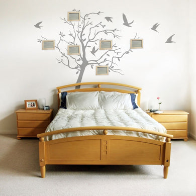 SINGLE TREE WITH FLYING BIRDS Big & Small Sizes Colour Wall Sticker Natural Style 'Tree'