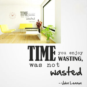 ,,TIME...'' JOHN LENNON QUOTE Big & Small Sizes Colour Wall Sticker Modern Style 'Q501'