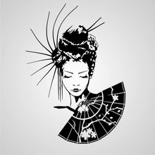 GEISHA WITH A FAN Sizes Reusable Stencil Oriental Exotic Travel Romantic Style 'K4'