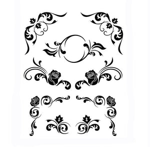 BAROQUE ORNAMENT Sizes Reusable Stencil Shabby Chic Romantic Style 'Deco15'