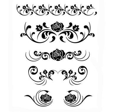 BAROQUE ORNAMENT Big & Small Sizes Colour Wall Sticker Decor Shabby Chic Valentine's 'Deco16'