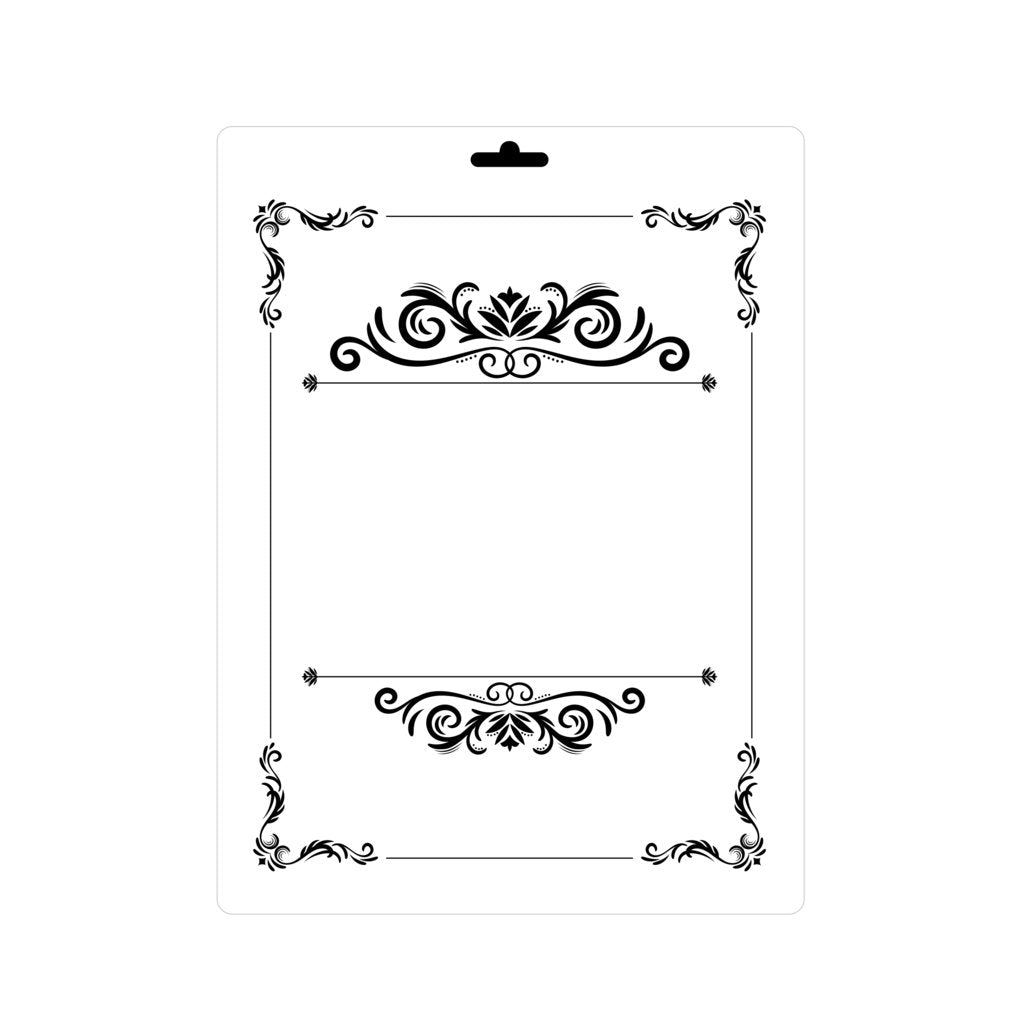 BORDER CORNER BAROQUE ORNAMENT Sizes Reusable Stencil Shabby Chic Romantic 'Deco50'
