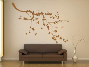 BALL FLOWERS TREE BRANCH Big & Small Sizes Colour Wall Sticker Shabby Chic Romantic Style 'Tree18'