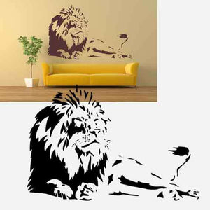LION KING Big & Small Sizes Colour Wall Sticker Animal Romantic Modern Kids Style 'Animal132'