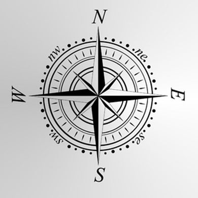 WIND ROSE, TRAVEL COMPASS Small & Big Sizes Wall Sticker Travelling Modern Style 'Compass'