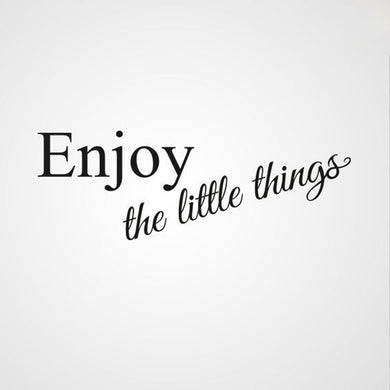 ,,ENJOY THE LITTLE THINGS'' QUOTE Sizes Reusable Stencil Modern Style 'Q39'