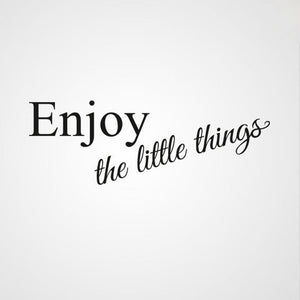 ,,ENJOY THE LITTLE THINGS'' QUOTE Big & Small Sizes Colour Wall Sticker Modern Style 'Q39'