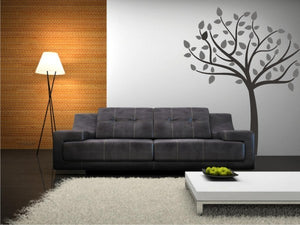SINGLE TREE Big & Small Sizes Colour Wall Sticker Modern Shabby Chic Style 'Tree39'