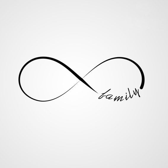 INFINITY SIGN QUOTE Big & Small Sizes Colour Wall Sticker Modern Romantic Style 'N44'