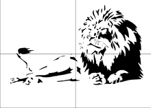 LION KING Sizes Reusable Stencil Animal Romantic Modern Kids Style 'Animal132'