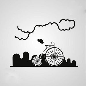 CIRCUS BIKE IN CITY Sizes Reusable Stencil Modern Travel Style 'Modern1'