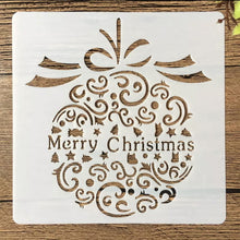 MERRY CHRISTMAS BAUBLE Reusable Stencil Various Sizes  Xmas Card Decoration / SNOW27